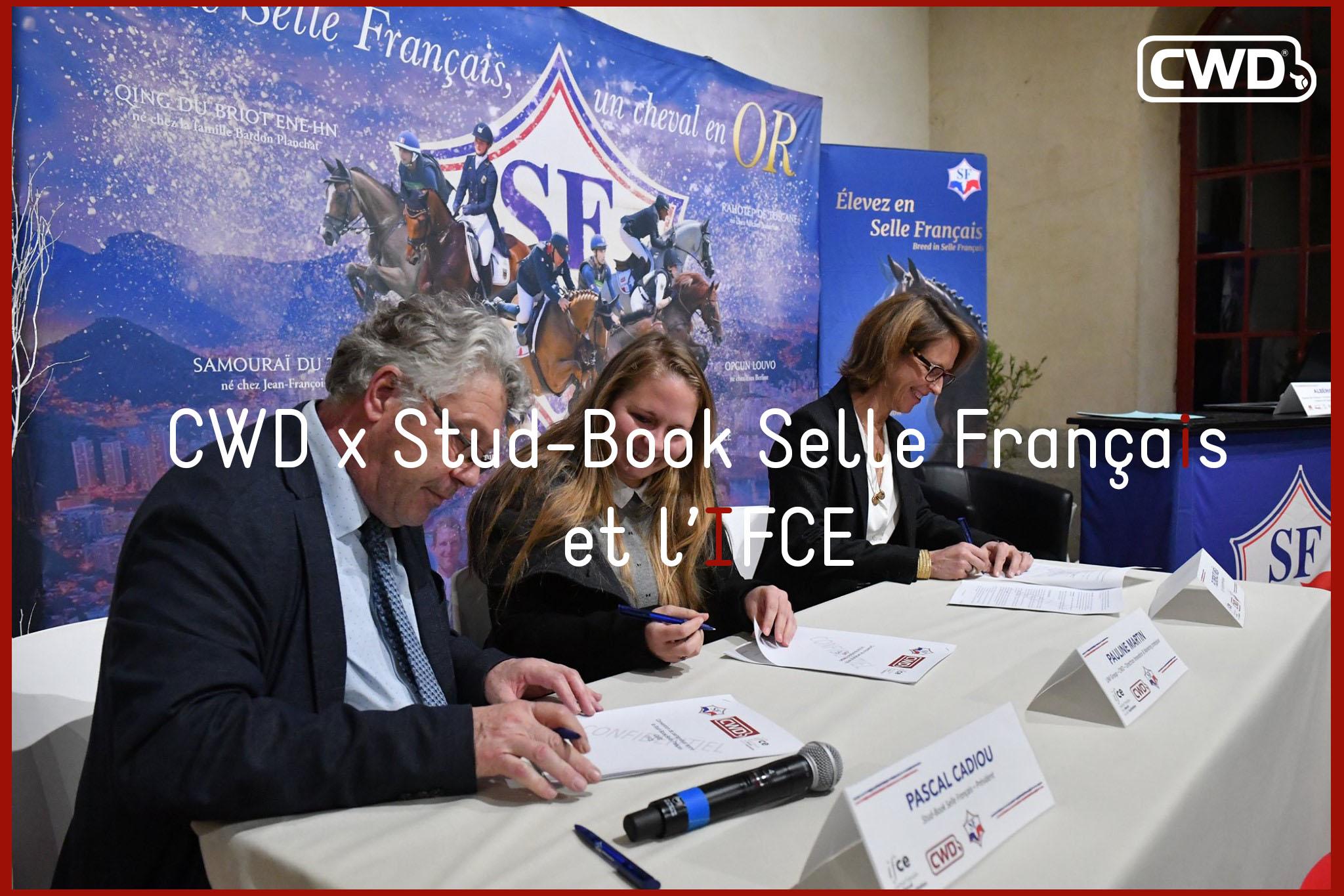 Le stud-Book Selle Français et l'IFCE x CWD