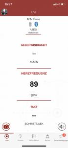 Herzfrequenz Pferdes iPULSE iSPORT Live-Modus CWD