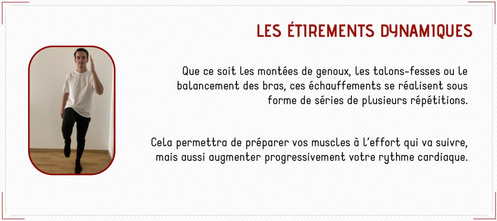 étirements dynamiques renforcement musculaire