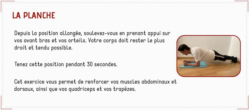 exercice planche renforcement musculaire
