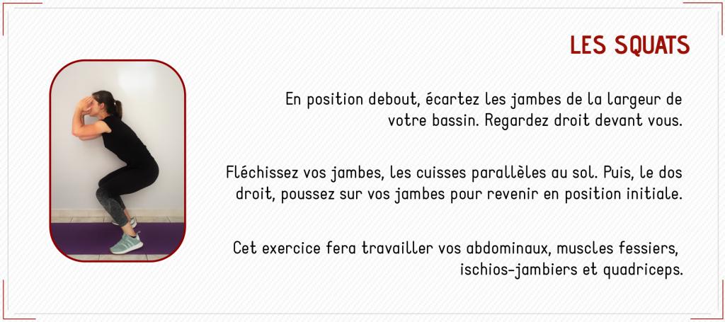 exercice squats renforcement musculaire